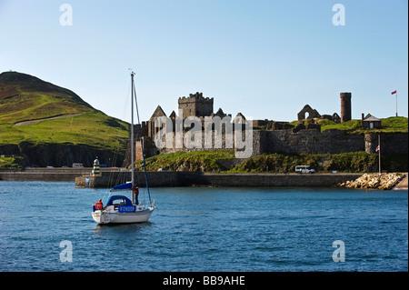 Peel Castle Isle Of Man - Stock Photo