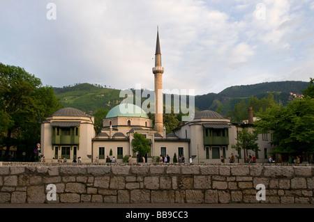 The Emperor's Mosque or Careva Dzamija Mosque in Sarajevo capital of Bosnia and Herzegovina - Stock Photo