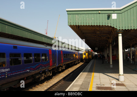 Cardiff Central Railway Station, Cardiff, South Wales, U.K. - Stock Photo