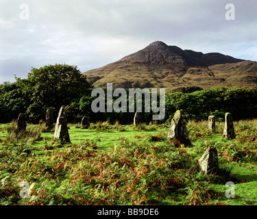 Loch Buie Lochbuie Stone Circle Isle of Mull Argyll and Bute Scotland - Stock Photo