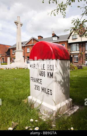 England Buckinghamshire Marlow High Street French Milestone - Stock Photo