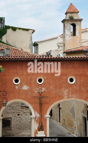 Arches in a Street in Antibes, Cote D'Azure, France - Stock Photo