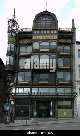 The Musical Instrument Museum (MIM) in Brussels. The building is the former Art Nouveau Old England department store. - Stock Photo