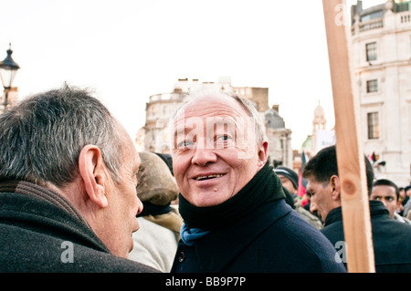 Former Mayor of London, Ken Livingstone is giving his support to protesters on Trafalgar square - Stock Photo
