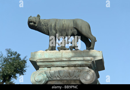 The Lupa Capitolina in Rome - Stock Photo