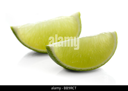 Fresh green sour lime - Stock Photo
