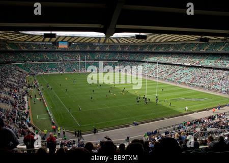 The Guinness Premiership final at Twickenham stadium. - Stock Photo