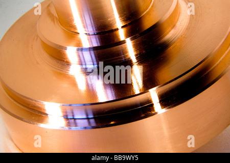 copper metal  object closeup shine - Stock Photo