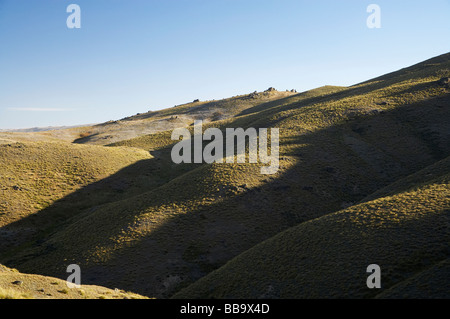 Adams Gully Young Australian Historic Reserve Carrick Range Central Otago South Island New Zealand - Stock Photo