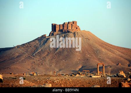 Arab Castle Qalaat Ibn Maan Palmyra Syria - Stock Photo