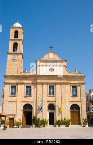 Orthodox cathedral in old town Hania Crete Greece Europe - Stock Photo