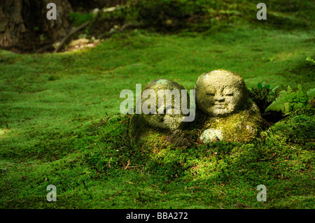 ... Buddhist Jizo Figures In The Moss Garden Of The Sanzen In Temple In  Ohara In