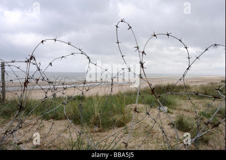 D-Day Utah beach Sainte Marie du Mont Manche Normandy France WWII - Stock Photo