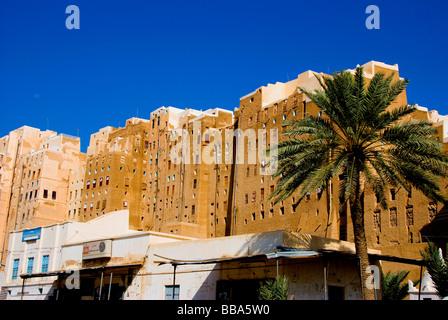 Shibam, Wadi Hadramaut, Seyun District, Yemen - Stock Photo
