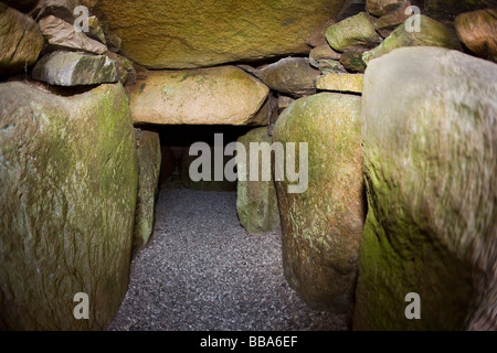 Passage grave at Lejre in Denmark - Stock Photo