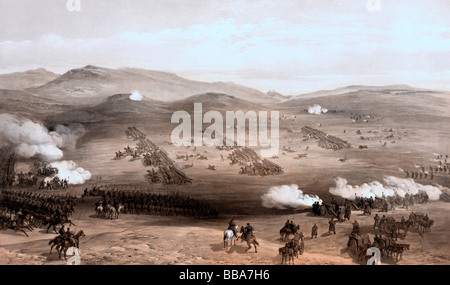 Charge of the light cavalry brigade, 25th Oct. 1854, under Major General the Earl of Cardigan - Stock Photo