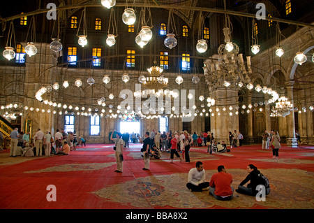 The Mosque of Muhammad Ali Pasha or Alabaster Mosque on the Citadel Cairo Egypt - Stock Photo