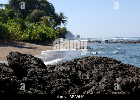 Beach Corcovado National Park on the Osa Peninsula Costa Rica - Stock Photo