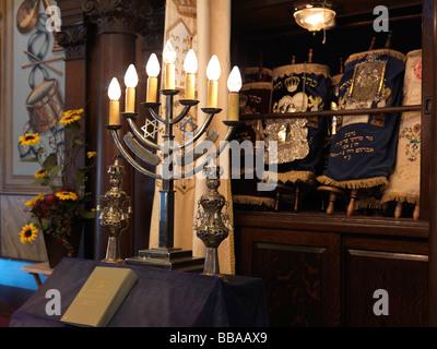 Jewish Synagogue interior - Stock Photo