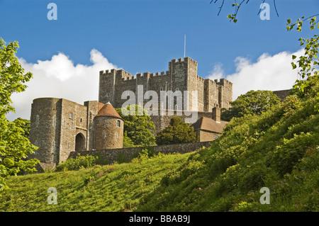 Dover Castle, Dover, Kent, South England, England, Great Britain - Stock Photo