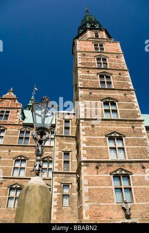 Rosenborg Castle in Copenhagen, Denmark, Europe - Stock Photo