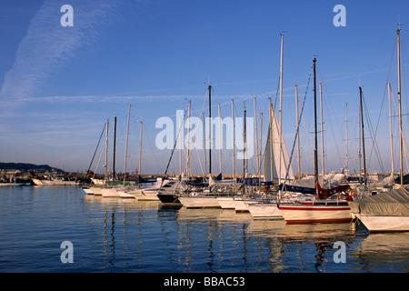 italy, le marche, san benedetto del tronto, port - Stock Photo