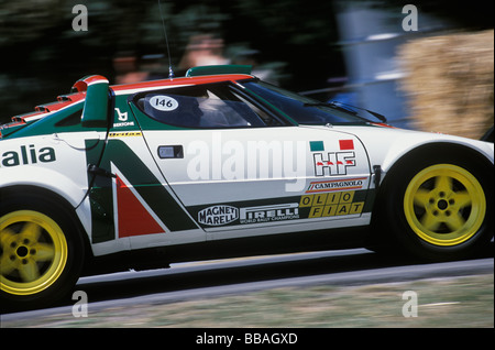 1977 Monte Carlo winning Lancia Stratos rally car at the 2005 Goodwood Festival of Speed, West Sussex - Stock Photo