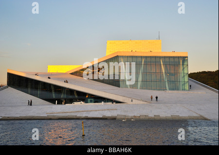 Oslo opera house by the Oslo fjord - Stock Photo
