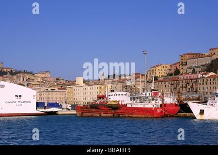 italy, le marche, ancona, port - Stock Photo