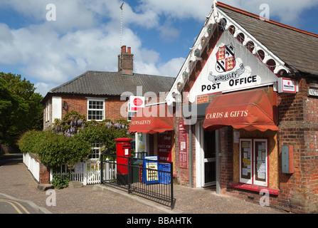 UK England Norfolk Mundesley High Street village Post Office - Stock Photo