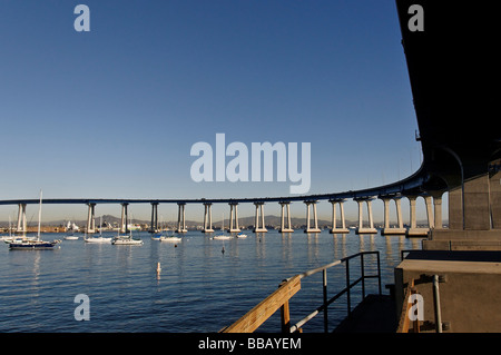 USA California San Diego Coronado Bridge - Stock Photo