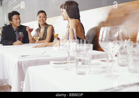 Couples dining in restaurant - Stock Photo