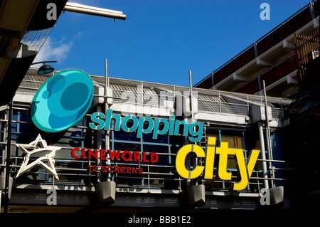 Wood Green Shopping City signage in wood Green high Road North London England UK - Stock Photo