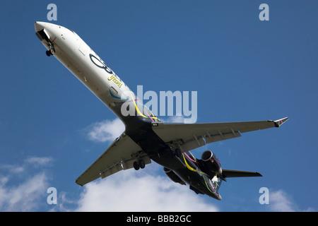 A Bombadier Regional Jet of Sky West - Stock Photo