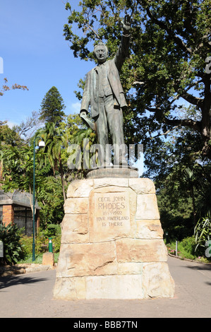 Memorial to Cecil John Rhodes 1853-1902 Company's Garden Cape Town South Africa - Stock Photo