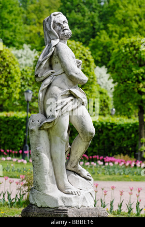 Classical marble statue in the estate Kuskovo park Moscow Russia - Stock Photo