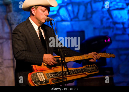 Junior Brown A Popular Country Music Musician Is Guit Steel Guitar Player Performing