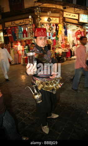 Water seller in the Hamidiyya Souq Damascus Syria - Stock Photo