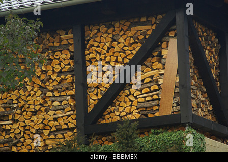 Holzstapel stack of wood 21 - Stock Photo