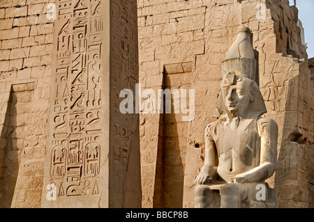 Luxor Temple Egypt  was the house of Amon Ra. - Stock Photo