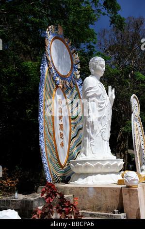 Statue of A Di Da or Amitabha, the Buddha of the past. Ta Cu mountain, Binh Thuan Province, Vietnam - Stock Photo