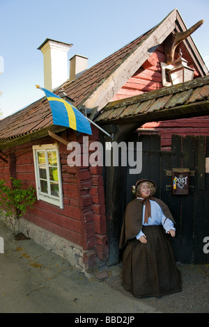 The famous café Tant Brun in historical town Sigtuna Sweden - Stock Photo