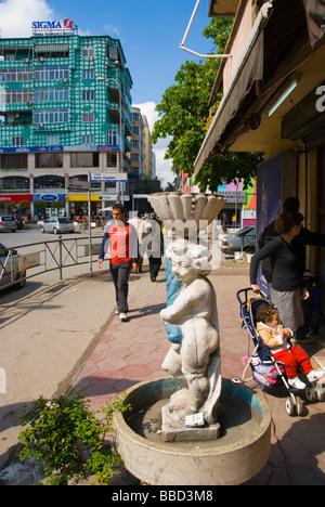 Blloku district Tirana Albania Europe - Stock Photo