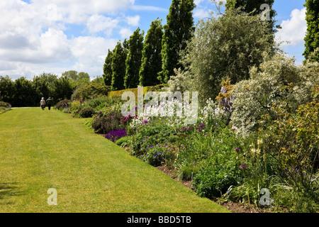 Mixed Border With Viola Phlox Allium And Iris Hadlow