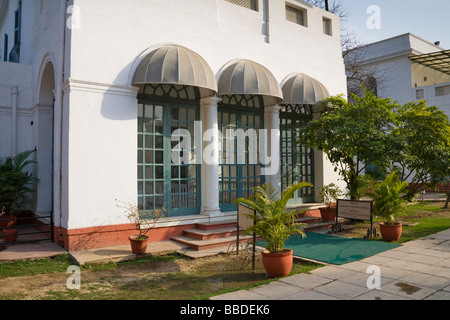 Gandhiji's room at the Gandhi Smriti, where Gandhi spent his last 144 days, 5 Tees January Marg, New Delhi, Delhi, - Stock Photo