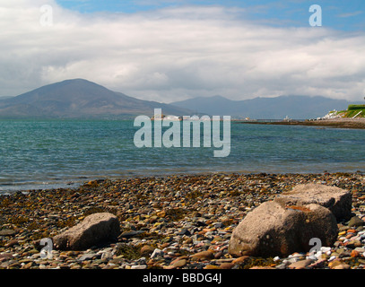 Tralee Bay with the Slieve Mish Mountains on the Dingle Peninsula,Eire - Stock Photo