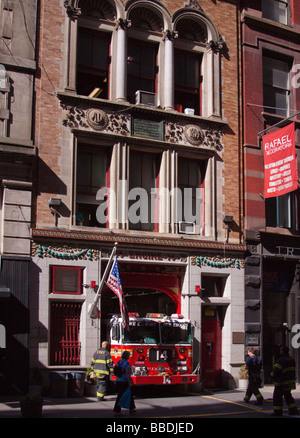 14th Engine Company, New York, NY USA - Stock Photo