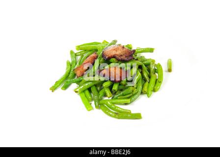 Bohnen mit Speck beans with ham 02 - Stock Photo
