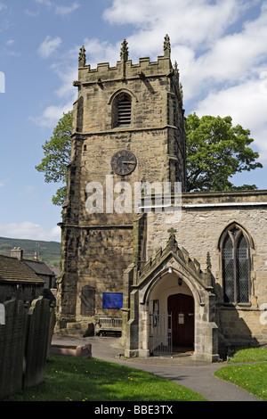 Castleton Church, in Derbyshire, England UK - Stock Photo