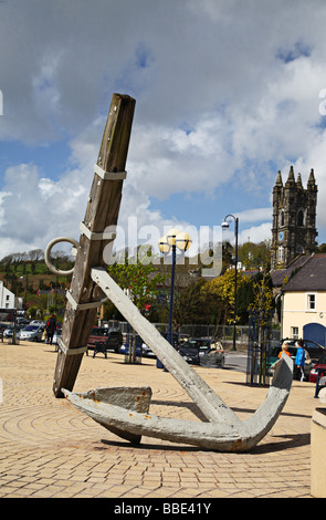 Armada Anchor in the square in Bantry West Cork Ireland - Stock Photo